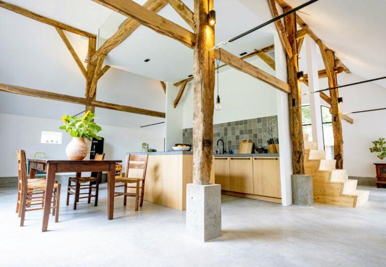 design betonvloer keuken woonschuur